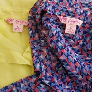 Candies Sleevleas Lot of 3 size large